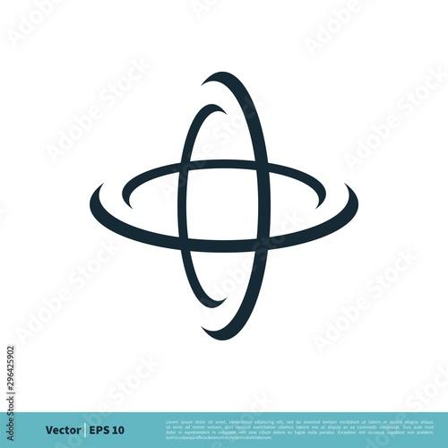 Valokuva Orbit Swoosh Science Icon Vector Logo Template Illustration Design