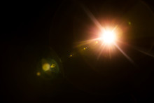 Abstract Lens Flare Red Light ...