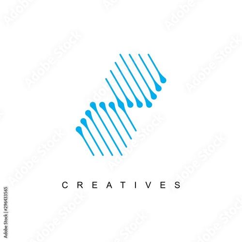Cuadros en Lienzo DNA logo design template.icon for science technology