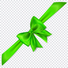 Beautiful Green Bow With Diago...