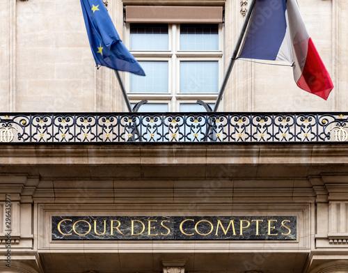 Fotografía  Paris, France: Cour des comptes (Court of Audit) on Rue Cambon in Paris