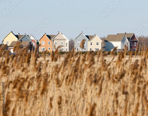 Foto  Brand new homes in residential housing development.