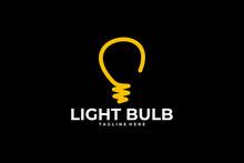 Light Bulb Logo Icon Vector Is...