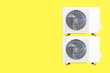 canvas print picture - Cooling machine Large air conditioning system separated from the background clipping part