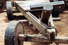 Folk Toys, Vintage Wooden Cart...
