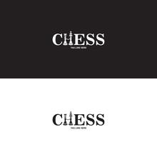 Chess Logo On Black And White ...
