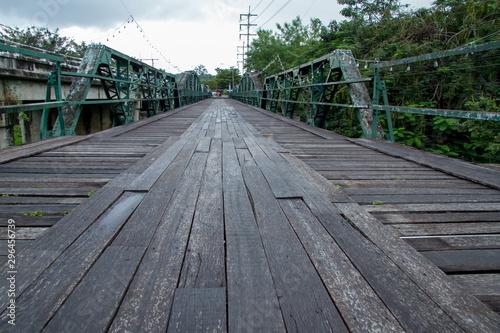 Fotografia, Obraz wooden footbridge