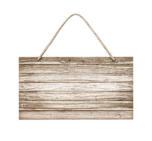 Empty Wooden Sign Frame With L...