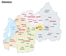 Administrative Map Of The African State Republic Of Rwanda