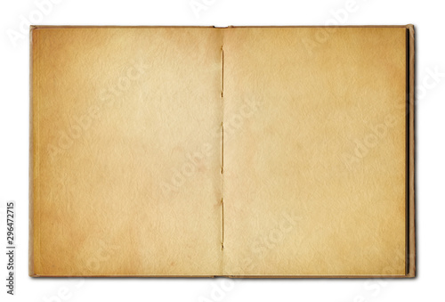 Fotomural  Vintage open book isolated on white background