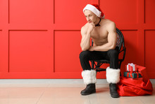 Young Athletic Santa Claus Wit...