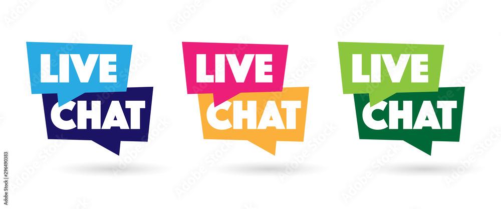 Fototapeta Live chat