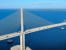 Aerial View Of Sunshine Skyway...