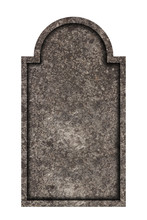 Decorated, Oval Granite Tombst...