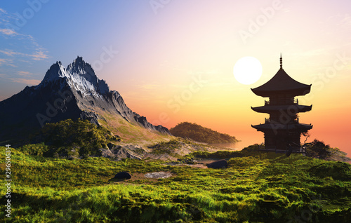 Chinese house Canvas Print
