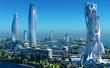 canvas print picture - FutureBeautiful city of fantasy