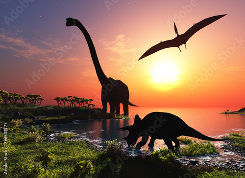 The dinosaur Canvas Print