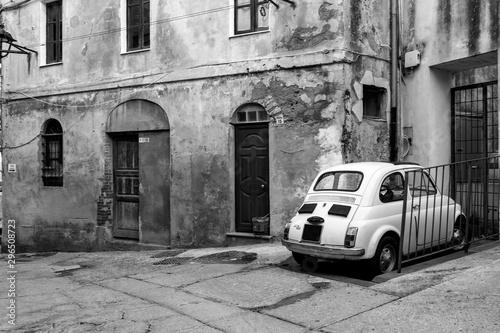 Sardinien Fiat 500 Canvas Print