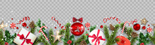 Festive Composition With Fir T...