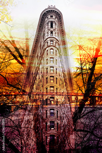 Flat Iron building Art Wallpaper Mural