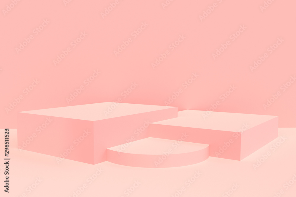 Fototapety, obrazy: 3d rendered - pink podium product display mockup
