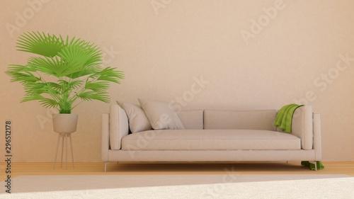 Fotografía  3D illustration of interior design