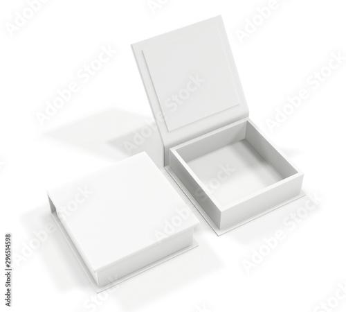 Fotografering White blank cardboard box isolated on white background