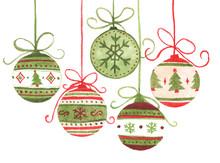 Colorful Christmas Balls Hangi...