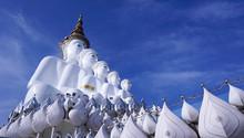 PETCHABUN, Thailand.- 08 SEP,2019 : Five Buddhas At Wat Phra Thad Pha Son Kaew Temple, Thailand.