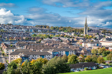 Aerial View Of Derry, Londonderry In Northern Ireland