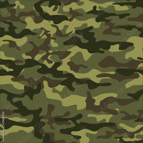 Pinturas sobre lienzo  texture camouflage seamless pattern. Green military ornament