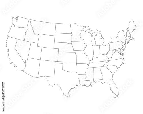 Fotomural  Karte der USA