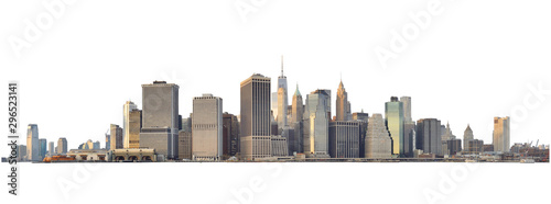 Fotografía  Manhattan skyline isolated on white.