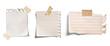 Leinwanddruck Bild - note paper blank sign tag label