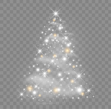 Shiny Christmas Tree Vector Il...