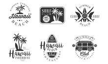 Surf Club Retro Logo Templates...