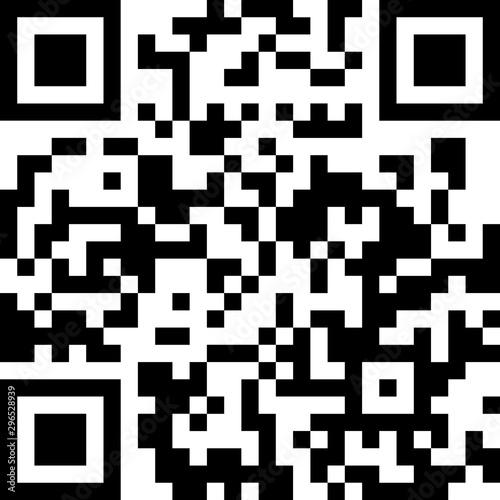 Valokuva  new year holidays qr code icon information scan