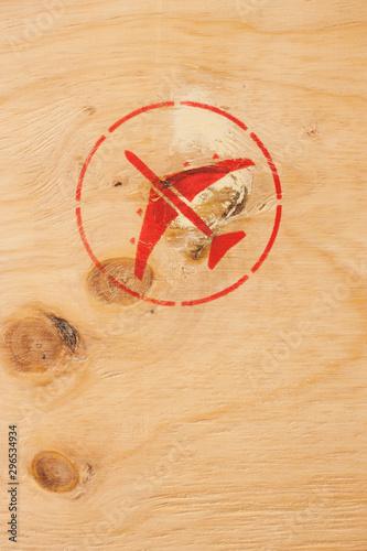 Stempel Luftfracht Billede på lærred