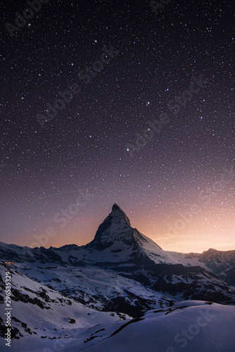 Matterhorn - Under the stars Canvas Print