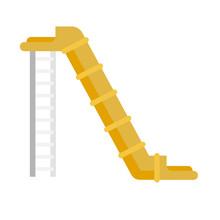 Tower Pipe Aquapark Icon. Flat...