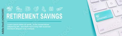 Fototapeta Retirement Savings Icon Set and Web Header Banner obraz