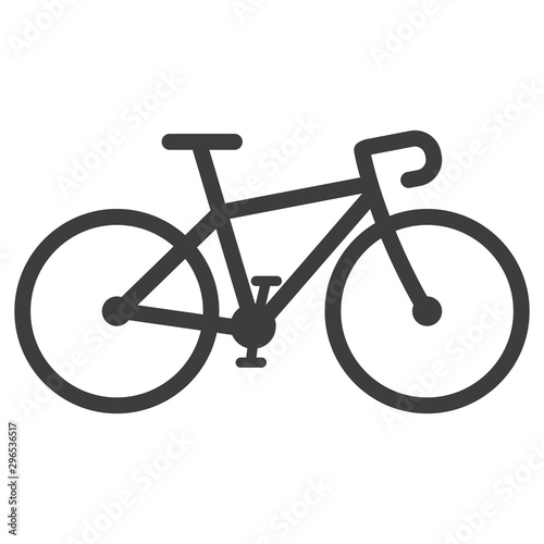 Photo bicycle icon vector on white background