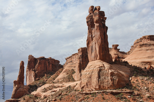Scenic Arches National Park in Moab, Utah.