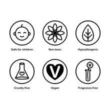 Set Of 6 Vector Icons: Safe Fo...