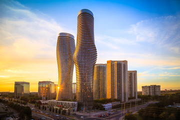 View of Mississauga city in...