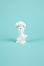 Bust Of David On A Turquoise B...