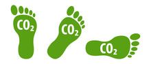 CO2 Ecological Footprint Symbo...