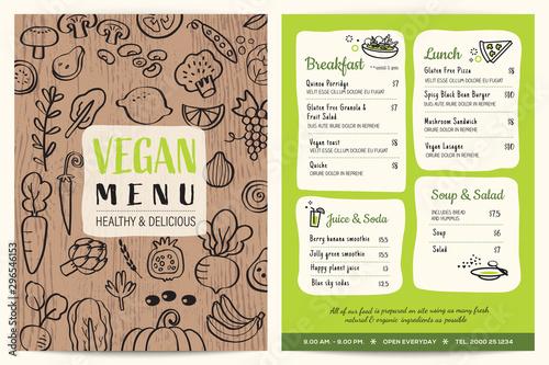Pinturas sobre lienzo  Vegan restaurant menu