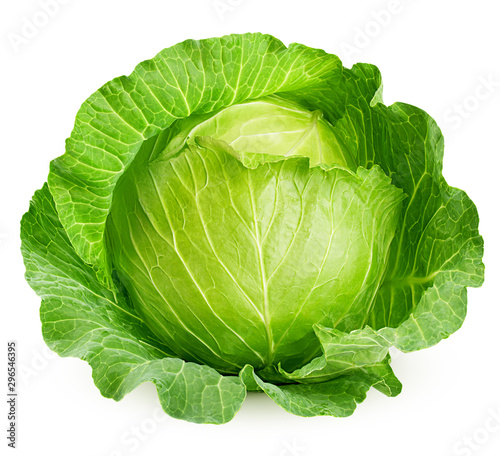Fotografija cabbage isolated on white background, clipping path, full depth of field