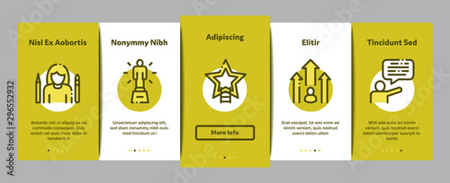 Photo Human Talent Onboarding Mobile App Page Screen Vector Thin Line